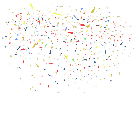 welcoming party: illustration of colorful confetti on white background Illustration