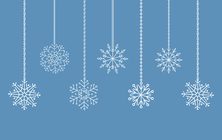 new year decoration: Snowflakes garland border, christmas and new year decoration for your design.