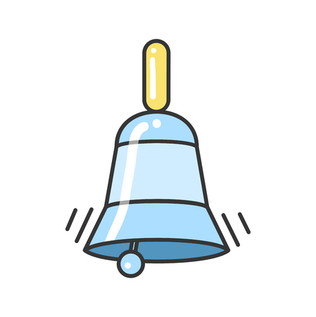 ding: Blue Bell Vector Icon, illustration for your project.