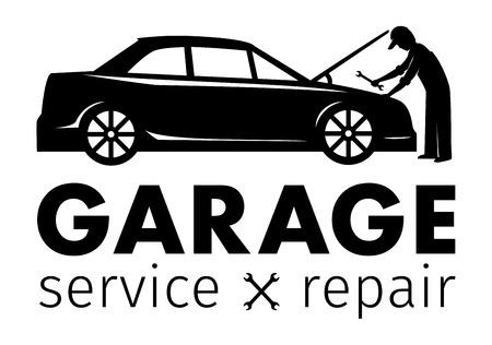 Centre Auto, service de garage et de réparation logo, modèle Vecteur Banque d'images - 56651182