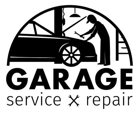 Auto center, garage service and repair logo,Vector Template Logo