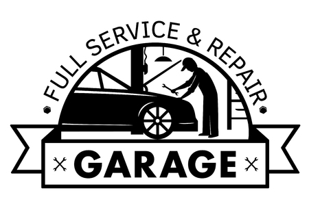 Auto center, garage service and repair logo,Vector Template