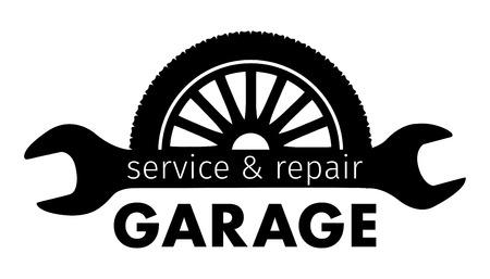 Centrum Auto, obsługa i naprawa garaż logo, Wektor szablonu