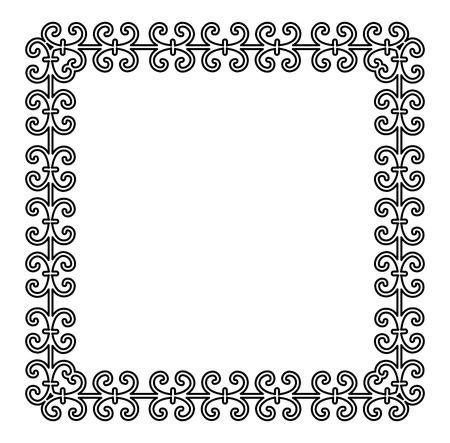 Vintage frame with elegant ornament for your designs. Vector image. Vettoriali