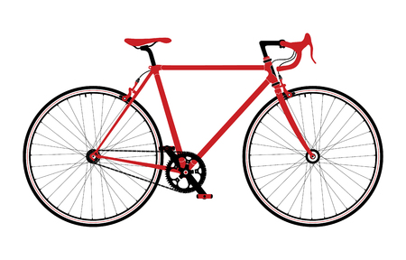 peddle: Classic town, road bicycle, detailed illustration