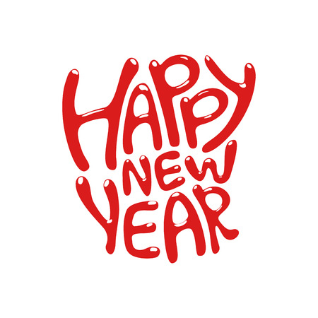 happy new year text: Holiday Lettering, happy new year text