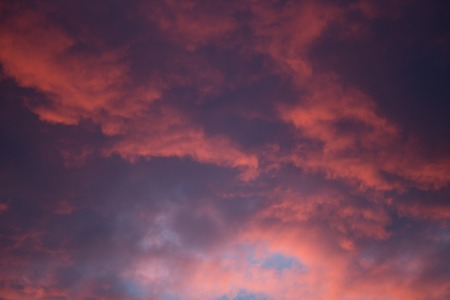 cloudy moody: Dramatic and moody pink, purple and blue cloudy sunset sky.
