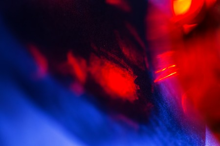 burnish: Abstract red and blue artistic background, close up photo