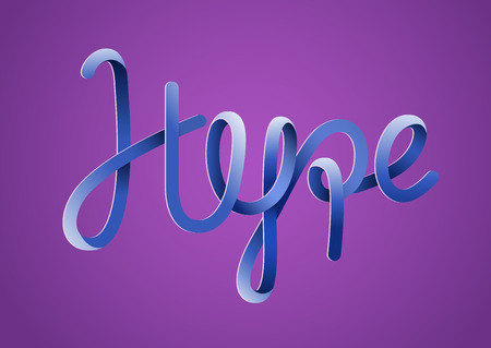 Hype quote lettering. Pseudo 3d graphic typography element. Vector illustration.