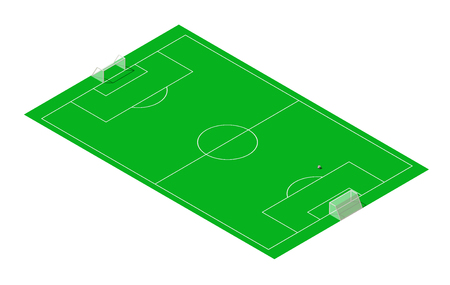 Vector football and soccer sport field isometric. Standard-Bild - 102561067