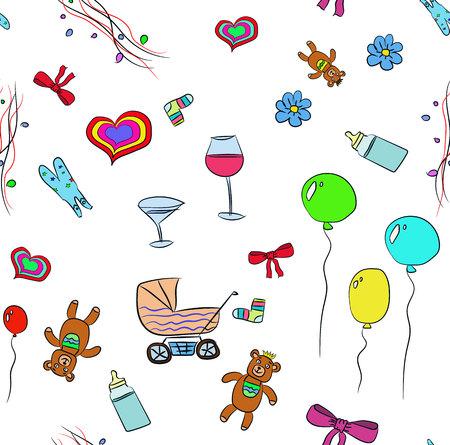childbirth: illustration the background a childs birthday