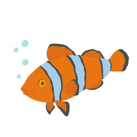 tropical: tropical fish. Illustration