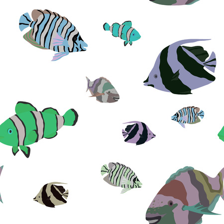 tropical: pattern with tropical fishes