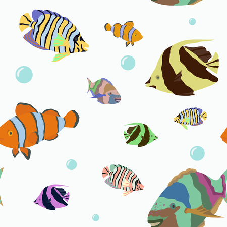 fishes: pattern with tropical fishes