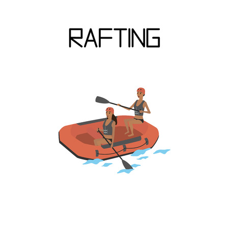 rafting. extreme sport.