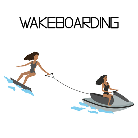water sport: wakeboarding. extreme water sport.
