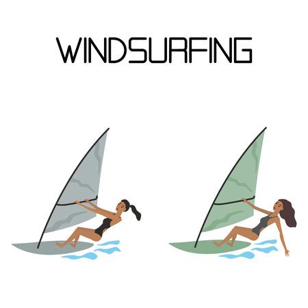 windsurf: windsurf. deporte acuático extremo.