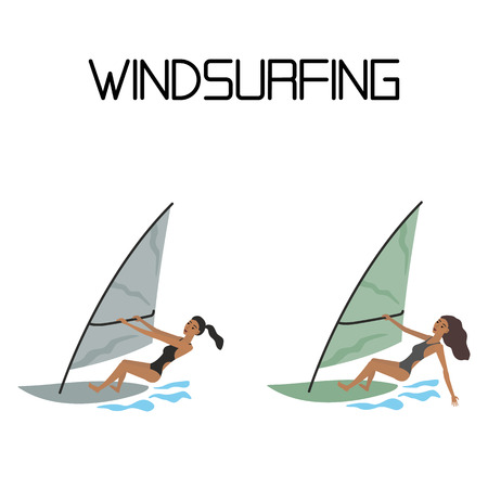 extreme: windsurfing. extreme water sport.