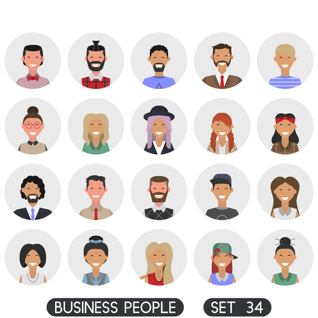 Avatar flat design icons. People icons. Vector illustration. Business people set 34