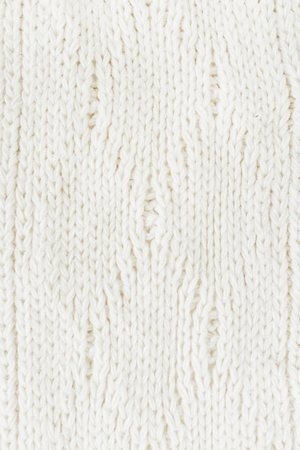White woolen winter sweater texture. Stockfoto