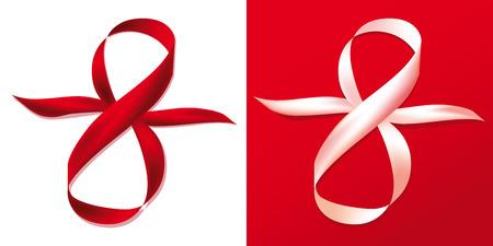 2 Gift celebration ribbons in 8