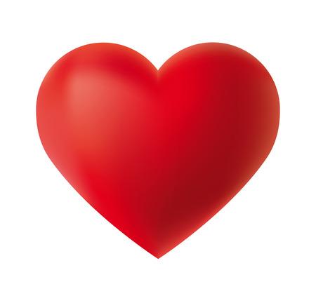 forme: Illustration avec un coeur rouge sur fond blanc