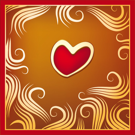 Valentine Background illustration with a red heart