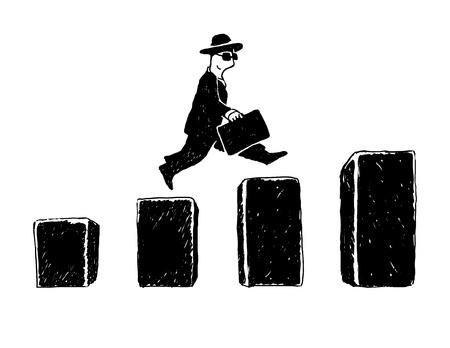 Jumping businessman Illustration