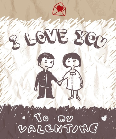I love you Stock Vector - 12251415