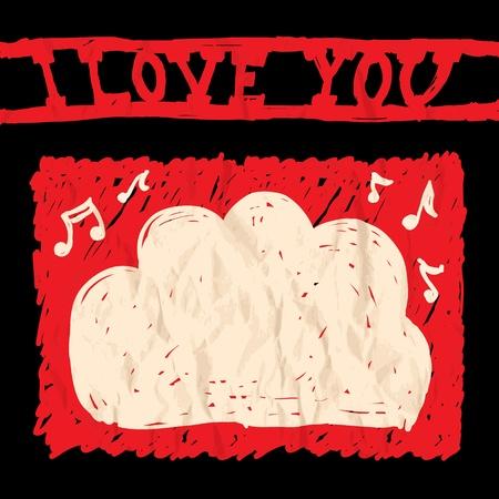Card of Valentine day Illustration