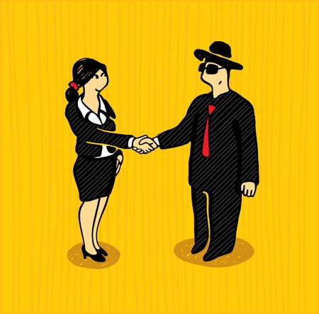 business people shaking hands: The bargain