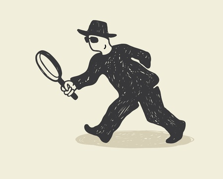 scrutiny: Detective Illustration