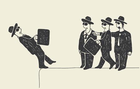 Falling down Illustration