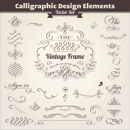 Calligraphic Design Elements Stock Vector - 13638530