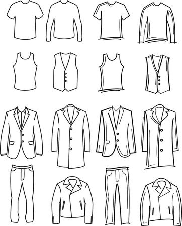 overcoat: clothes Illustration