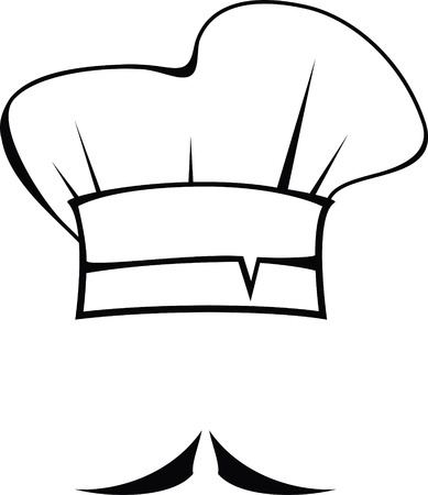 white moustache: chef