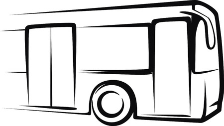 motor coach: bus Illustration