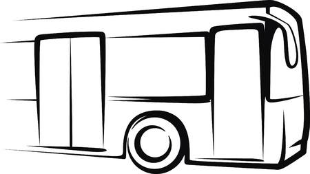 front wheel drive: bus Illustration