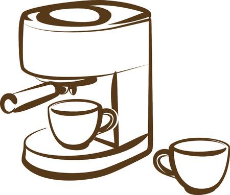 distribution automatique: machine � caf� Illustration