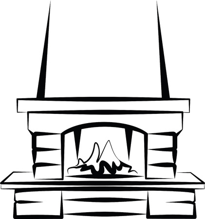fireplace Stock Vector - 7402223