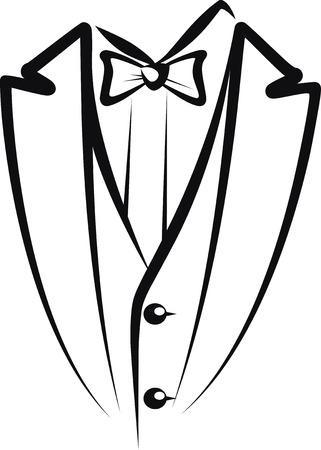 tuxedo man: gentiluomo Vettoriali