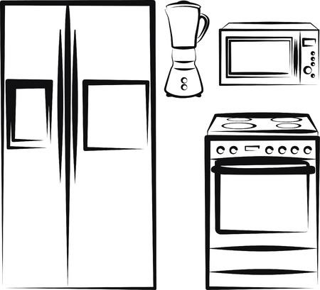 licuadora: electr�nica de cocina  Vectores