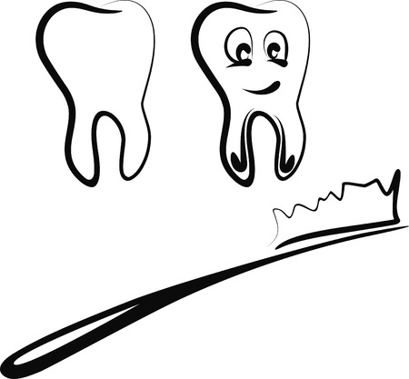 cleanliness: teeth Illustration