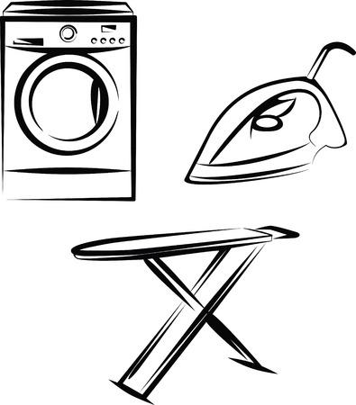 lavando ropa: lavado  Vectores