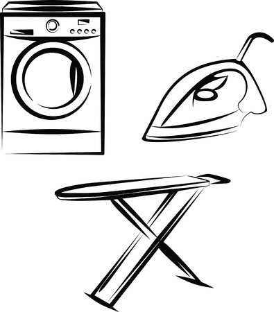 laundry machine: washing Illustration