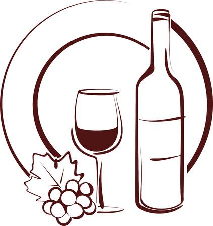 bouteille de vin: natures