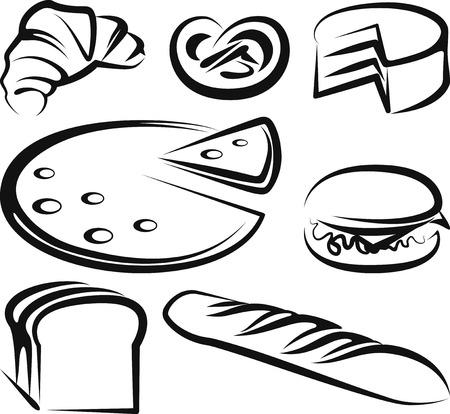 croissants: set of baking items