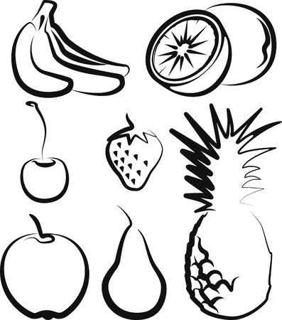 pineapples: fruit