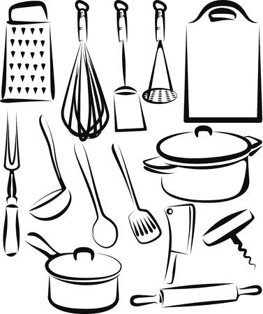 ustensiles de cuisine  Vecteurs