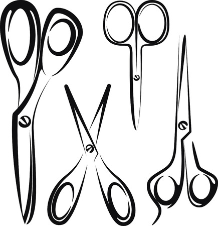 hairdressing scissors: scissors